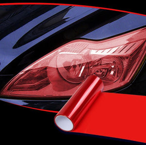 Headlight Taillight Tint Vinyl Film trillionwish Red