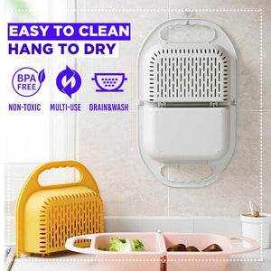 Multifunctional Folding Drain Basket trillionwish