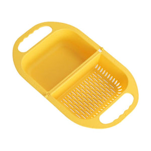 Multifunctional Folding Drain Basket trillionwish Yellow