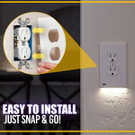 Outlet Wall Plate with Led Night Lights trillionwish