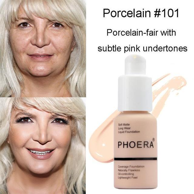 Phoera Flawless Matte Liquid Foundation 88mallonline 101