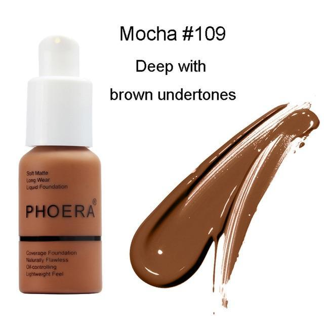 Phoera Flawless Matte Liquid Foundation 88mallonline 109