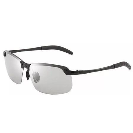 Photochromic Fishing Lens AmberAconite Black Frame Adaptive Lens