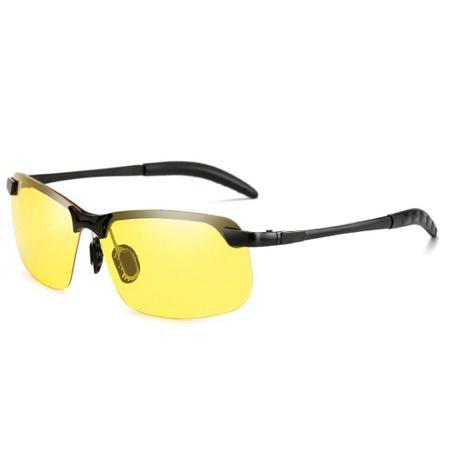 Photochromic Fishing Lens AmberAconite Black Frame Night Vision