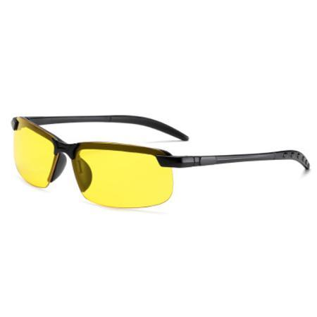 Photochromic Fishing Lens AmberAconite Black Frame Night Vision Unpolarized