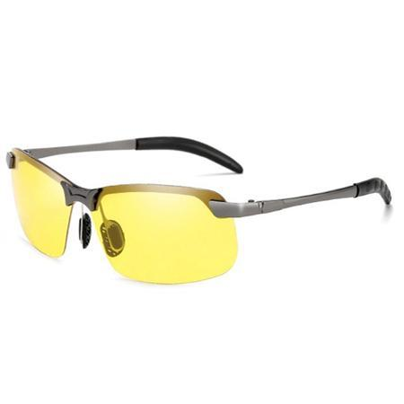 Photochromic Fishing Lens AmberAconite Silver Frame Night Vision