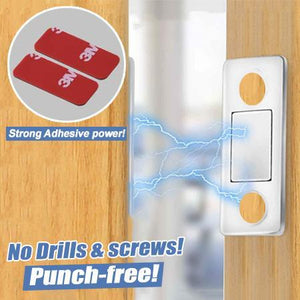 Punch-free Magnetic Door Closer (Set of 3) trillionwish