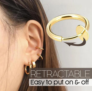 Retractable Earrings (BUY 1 GET 1 FREE) makeup sunnyfoxy Gold 12 mm
