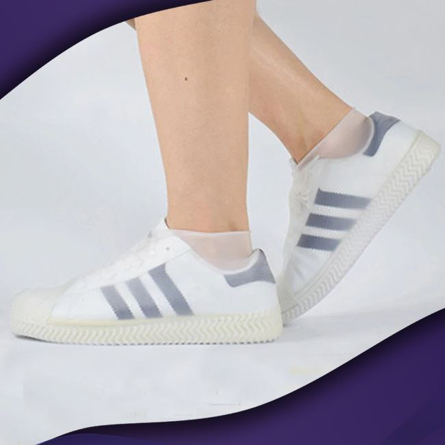 ShieldKicks™ Waterproof Shoe Cover trillionwish M White