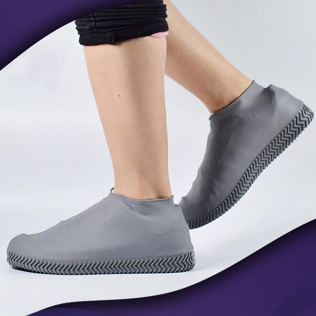 ShieldKicks™ Waterproof Shoe Cover trillionwish S Gray