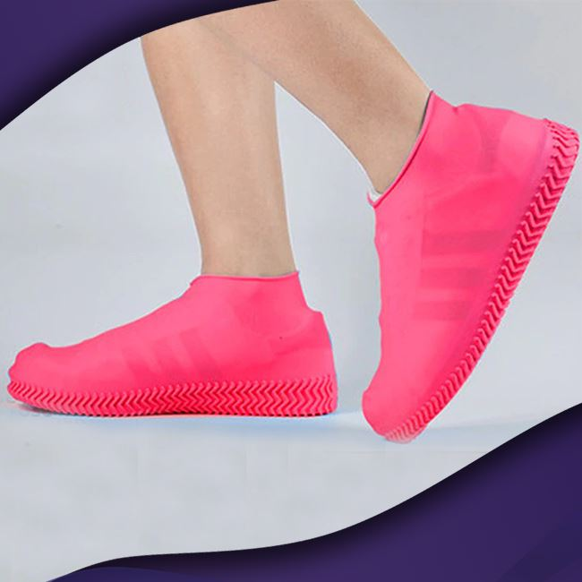 ShieldKicks™ Waterproof Shoe Cover trillionwish S Pink