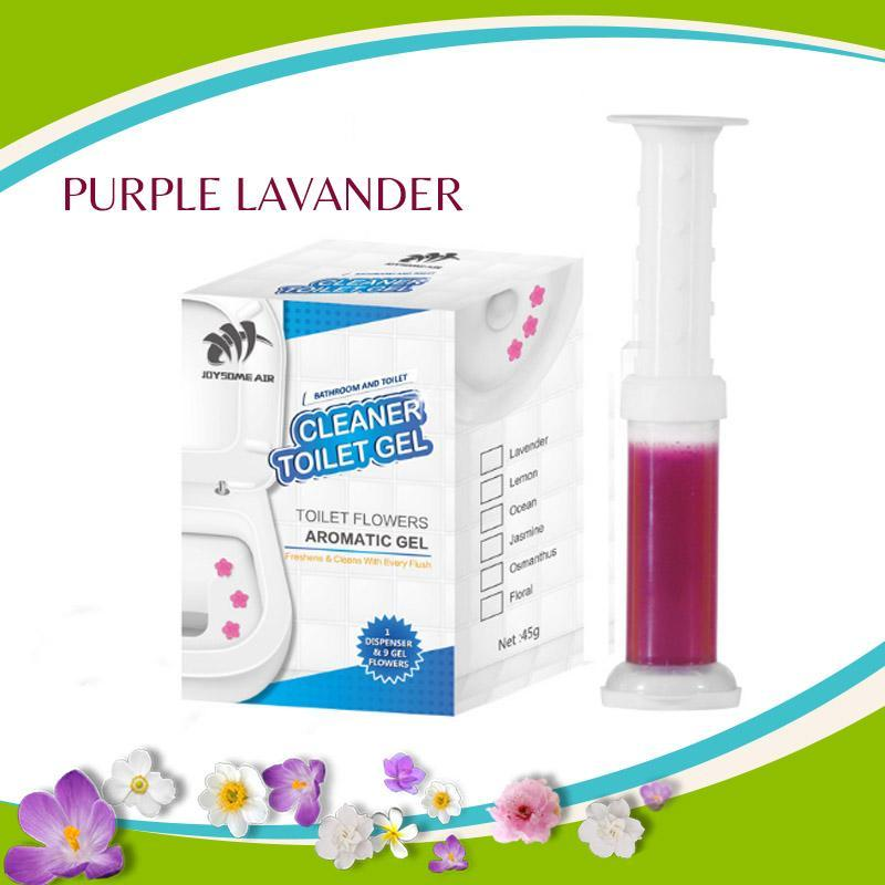 Toilet Flowers Cleaning and Aromatic Gel trillionwish Purple Lavender 2 BOXES