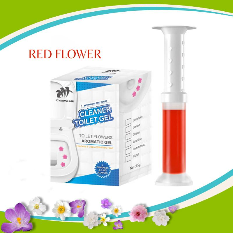 Toilet Flowers Cleaning and Aromatic Gel trillionwish Red Rose Flowers 1 BOX