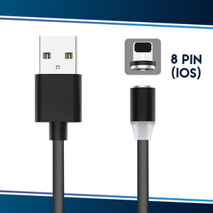 Voice Activated LED Magnetic Cable trillionwish Gray 8-pin IOS (Apple)