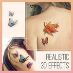 Waterproof 3D Tattoo Stickers pentacute