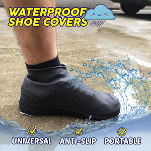 Waterproof Shoe Covers 88mallonline Black
