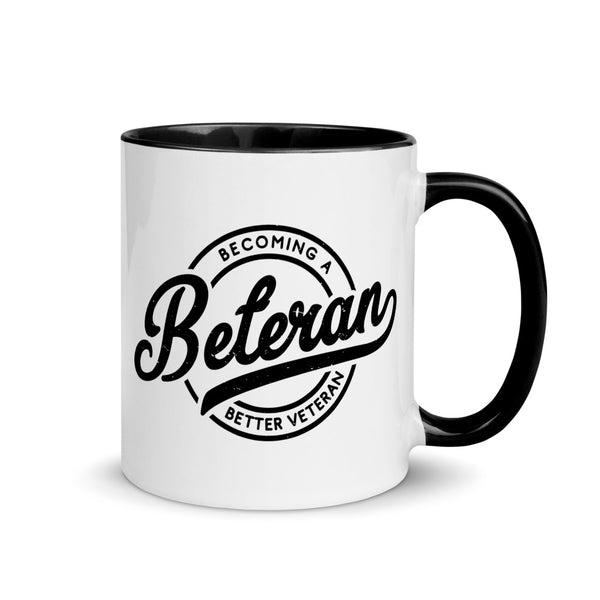 Beteran Badge Black & White Mug