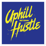 Uphill Hustle Blue & Yellow Sticker