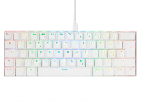 Svive Triton Pro RGB Mini 60 Gaming Keyboard white - Red switches - Begrip Gaming