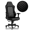 HERO Real Leather Gaming Chair - Black/Black - Begrip Gaming