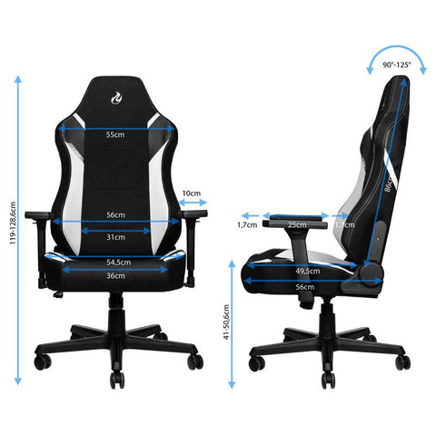 X1000 Gaming Chair - Black/White - Begrip Gaming