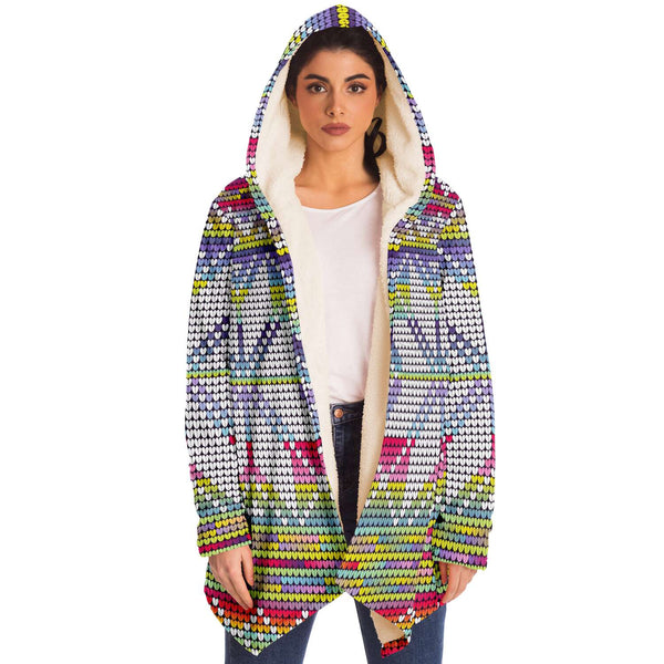 Neon Snowflake Hooded Sweater