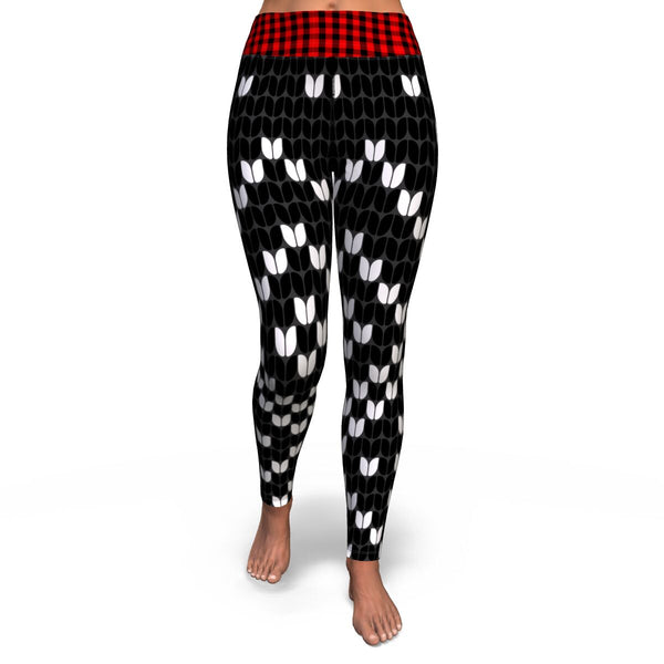 Black, Red & White Leggings