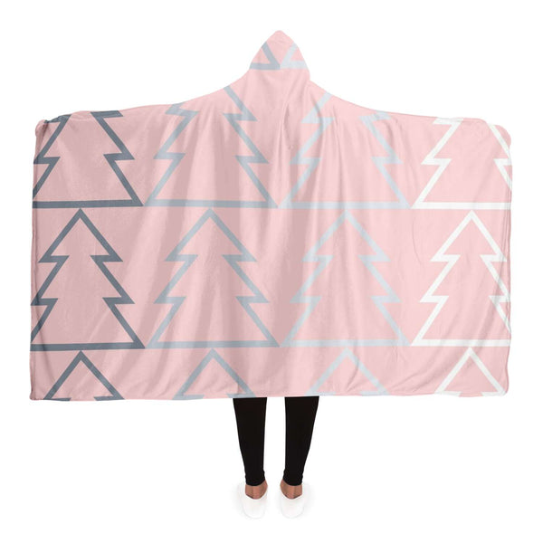 Pink Tree Hooded Blanket