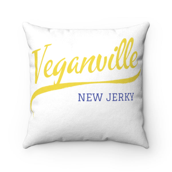 Veganville New Jerky Faux Suede Pillow Case & Square Pillow