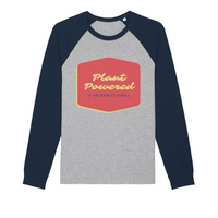 Organic Vegan Plant Powered Organic Raglan Long Sleeve Shirt