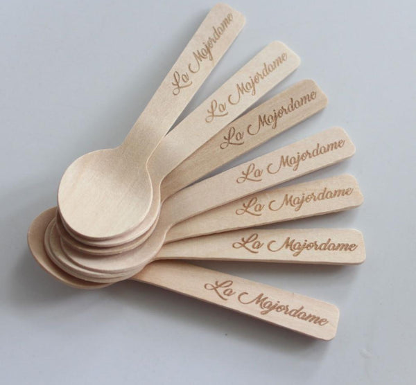 Customizable Small Wooden Spoons 100 pc
