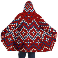 Red Wintery Hooded Sweater