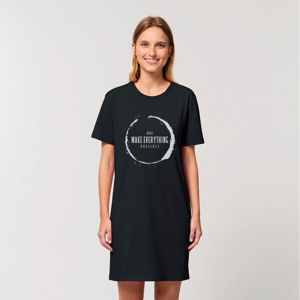 Bees Make Everything Possible Organic Tee Dress