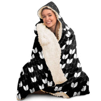 Black Wintery Hooded Blanket