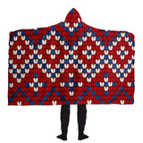 Red Wintery Hooded Blanket