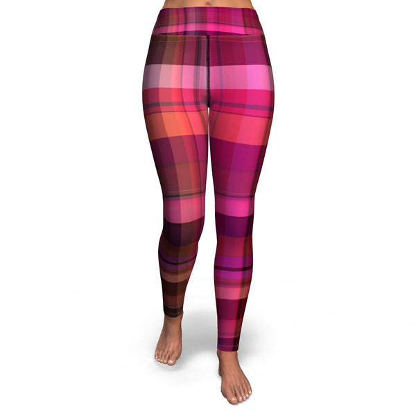 Pink Plaid Leggings