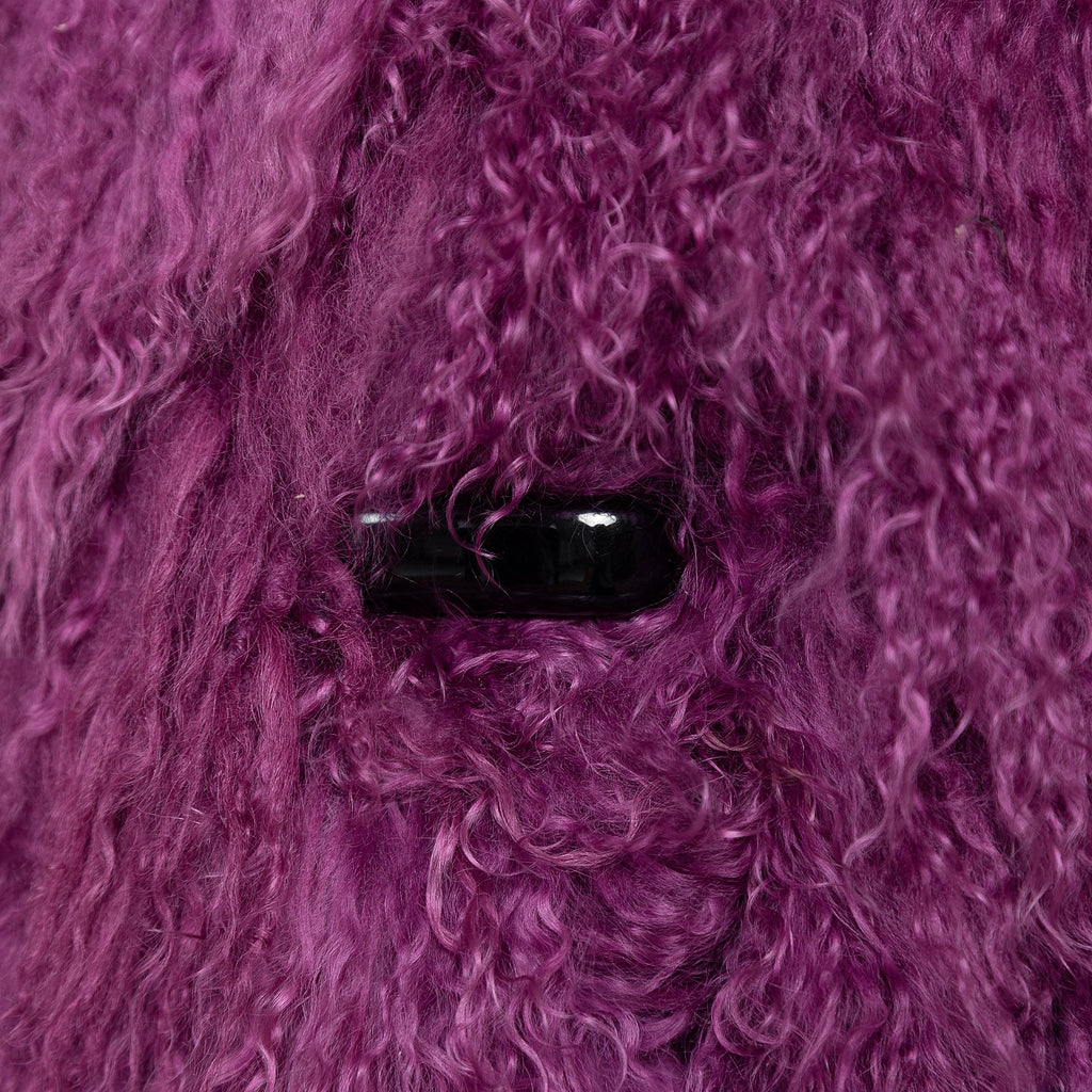Purple Mongolian Fur Coat