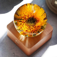 Load image into Gallery viewer, Wedding Gift for Best Friend- Preserved Sunflower in Resin