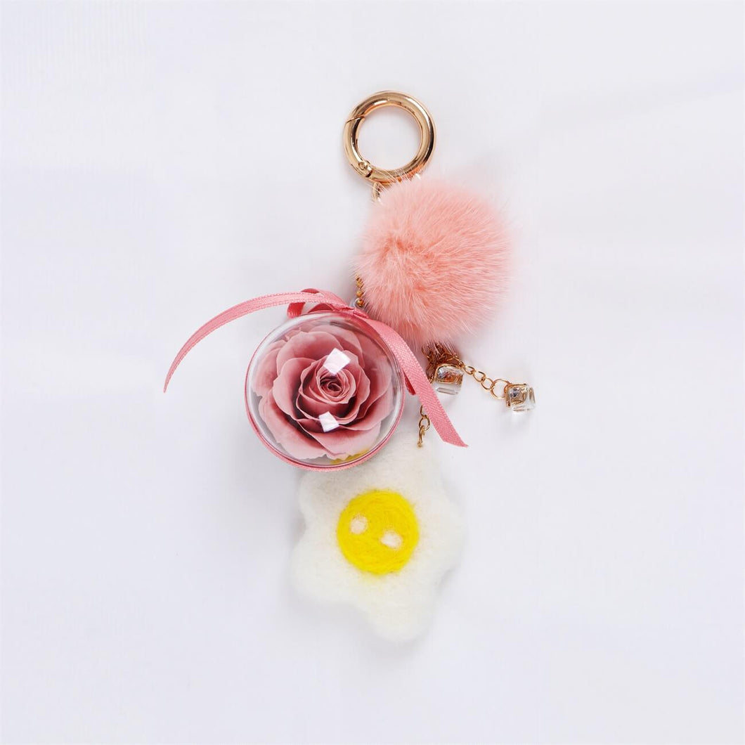 bag charms Preserved Flower Eternal Rose Cute Decoration Accessories for Crossbody Bag lightue