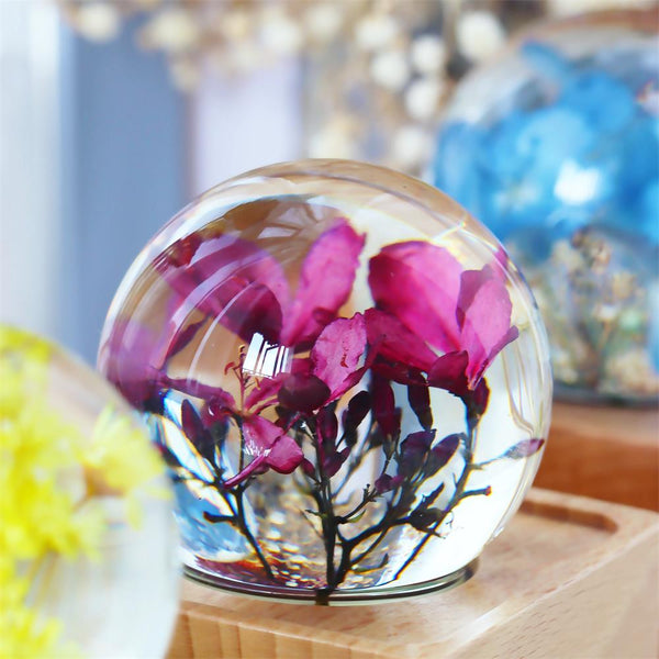 Peregrina Crystal Ball Bluetooth Speaker with LED Mood Light