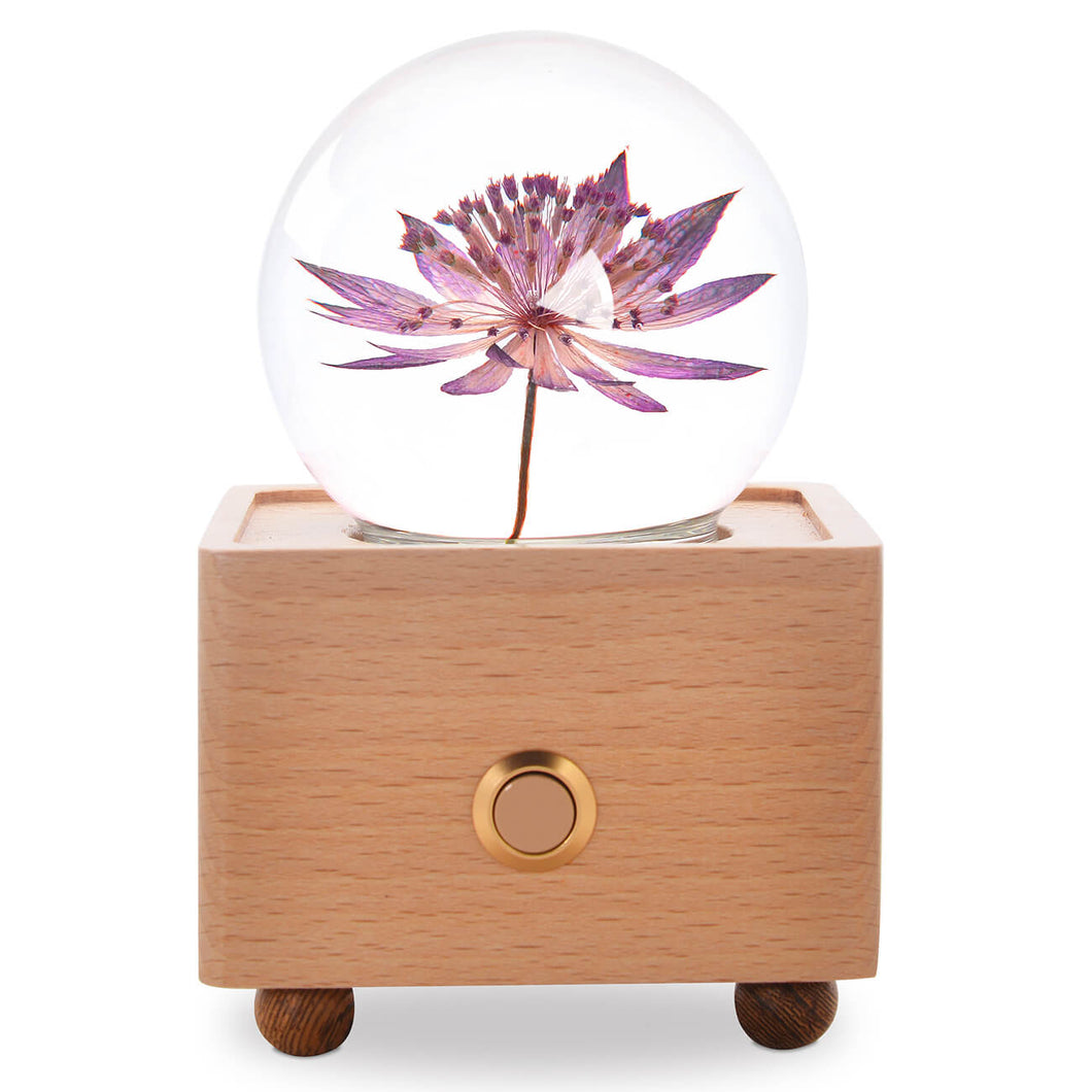 birthday gifts for mom Great Masterwort Crystal Ball Bluetooth Speaker with LED Mood Light lightue