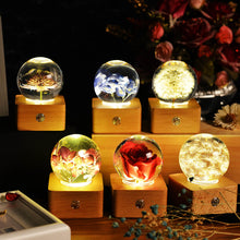 Load image into Gallery viewer, top gifts for women Blue Hydrangea Crystal Ball LED Night Light lightue