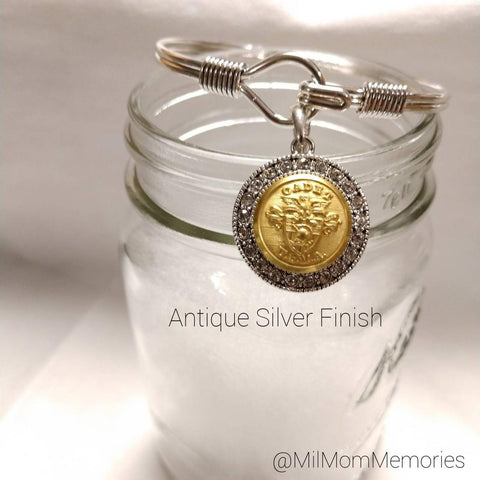 USMA Small Button Hook-Closure Charm Bracelet
