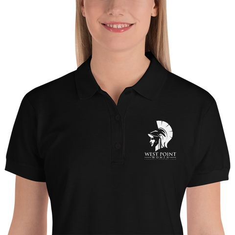 Women's Embroidered Polo - Athena