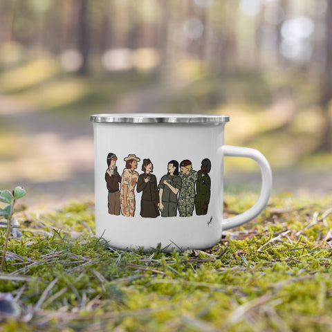 """Ode to the Trailblazers"" Art by Hannah Lamb - Enamel Mug"