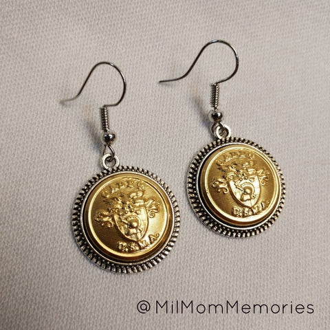 USMA Cadet Antique Silver Earrings
