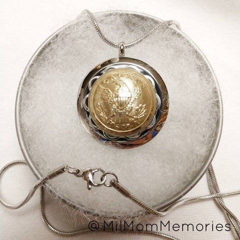 1860 Antique West Point-USMA Cadet Scoville 801 Series Button Locket