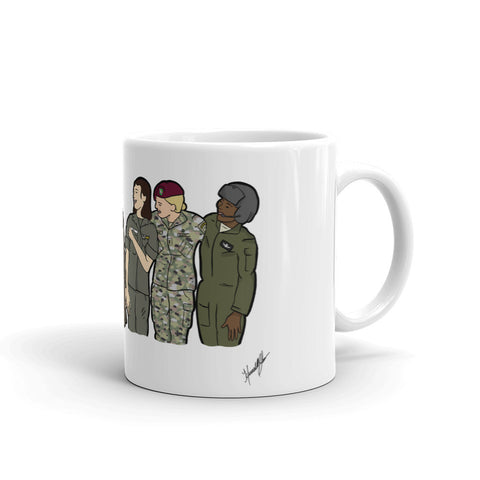 """Ode to the Trailblazers"" by Hannah Lamb White glossy mug (microwave/dishwasher safe)"