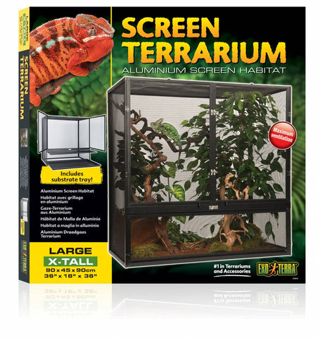 Exo Terra Large/X-Tall Basic Chameleon Setup Kit with Additional Options - Total INCLUDES All Shipping