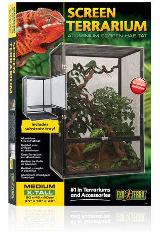 Exo Terra Medium/X-Tall Basic Chameleon Setup Kit with Additional Options - Total INCLUDES All Shipping